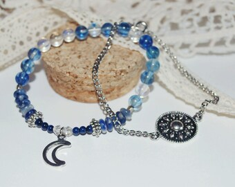 Pair of Sun and moon bracelets