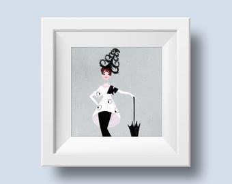 My Fair Lady • Audrey Hepburn • Drawing • Art • Fan Art • Illustration • Mini Print • DesignedByShea