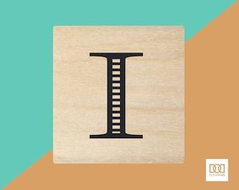 Modern Alphabet-I - 3cm Rubber Stamp (DODRS0163)