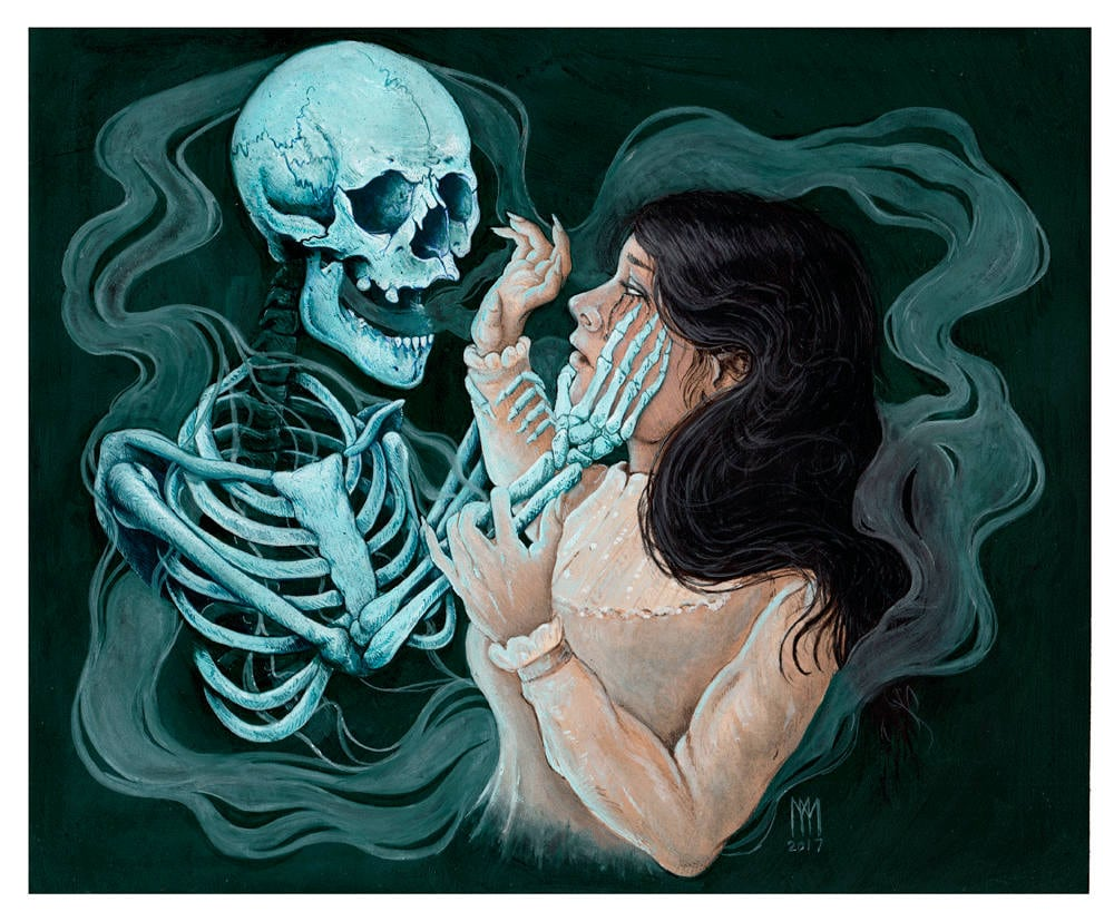 Facing Death - Halloween 2017 Artist Print