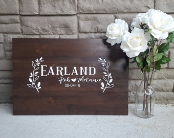 Wood Sign: Personalized Wedding Guestbook Sign