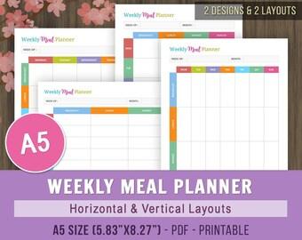 weekly meal calendar printable