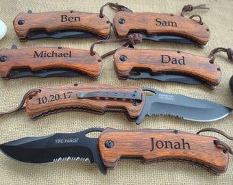Personalized Engraved Pocket Knife/Laser Engraved, personalized knife, wedding knife, anniversary gift, groomsman knife, best man knife