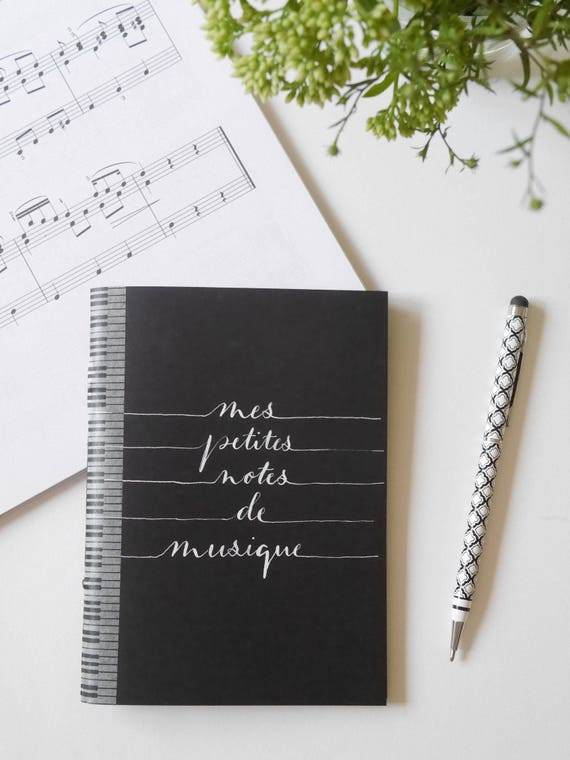 music notebook personalized music journal music gift