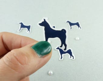 "Small sticker Set ""Basenji"" Silhouette"