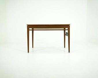 309-003 Danish Mid-Century Modern Teak Dining Table Kitchen Fold Out Butterfly