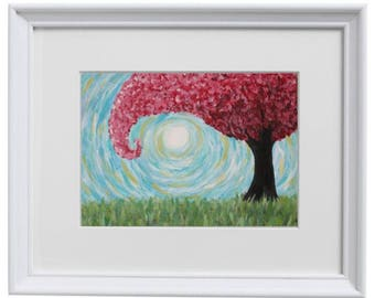 11x14 - Windy Tree - Art Print
