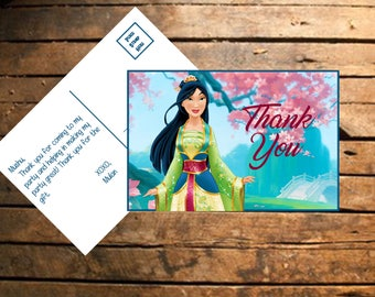 Instant Download Mulan Thank You Card