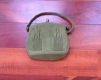 1960's GREEN GARAY PURSE