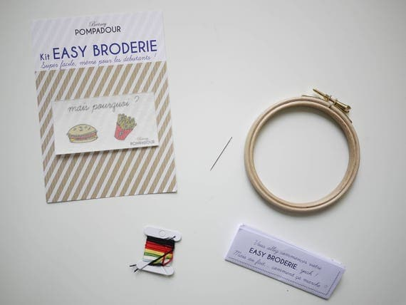 Burger - EASY Embroidery Kit