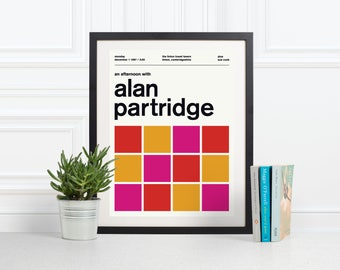Alan Partridge Swiss Modern Poster