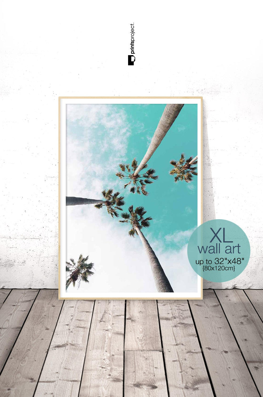palm tree print tropical decor wall art palm print. Black Bedroom Furniture Sets. Home Design Ideas
