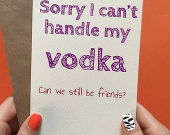 Funny birthday card friend / vodka / best friend / friend birthday card
