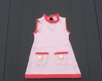 Simple and stylish, organic dress baby girl 12 months, 100% cotton