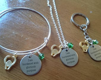 I am burdened with glorious purpose expandable bracelet/necklace/key ring options