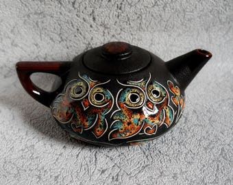 Gifts for mom Teapot ceramic Eagle-Owl Wedding gift Clay teapot Large wedding teapot Pottery Owl gifts House warming gift Kitchen gifts