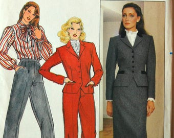 Uncut 1970s Butterick Vintage Sewing Pattern 4527, Size 10; Misses' Jacket, Skirt, and Pants