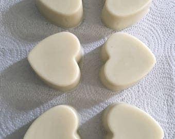 Lotion bar, Body butter bar, Solid moisturizing bar, Cocoa butter, Shea butter, Coconut oil, Beeswax, Heart shape