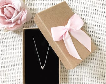 Tiny Star Necklace ~ Silver/Gold/Rose Gold