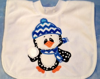 Baby it's COLD Outside! Penguin Bib