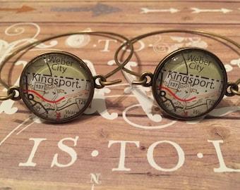 Custom map bracelets
