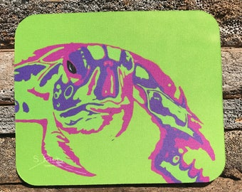 Warhol Inspired Elmer Turtle Mouse Pad