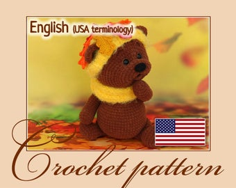 Autumn bear - Amigurumi Crochet Doll Pattern PDF file by Anna Sadovskaya
