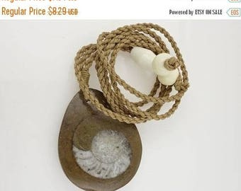 ON SALE ON Sale Ammonite Focal Bead Pendant, Necklace, Free Shipping