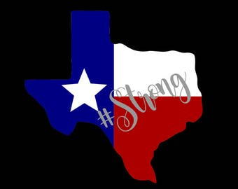 Texas Strong Decal :Yeti cups- cars- laptops- Texas decal-  Texas Flag- laptop decal- glitter decal- vinyl decal