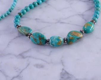 """Turquoise / Silver Necklace (22"""")"""