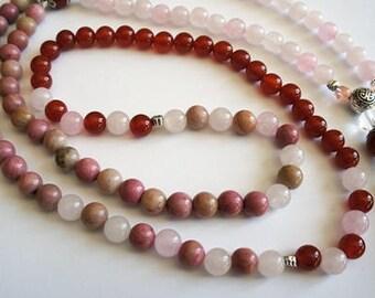 MALA necklace, Yoga Bracelet, energy stone