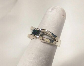 Sterling Silver, Split Shank Ring,  Colored Stone Ring
