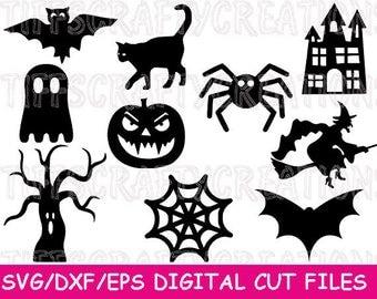 Halloween Svg Bundle, Halloween Svg Cricut, Halloween Svg Design, Witch Cricut, Witch Files, Svg Witch, Pumpkin Cutting File