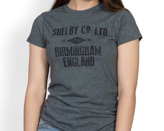Shelby Co. Birmingham England Womens Vintage style T-shirt -  Inspired by Peaky Blinders. - TV fan T-shirt, 1920's Peaky Blinder.