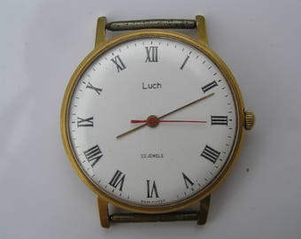 Vintage Ussr WATCH LUCH 23 jewels. Gold plated. Ultra Slim - Serviced