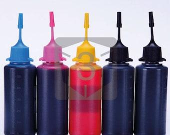 5 x 50ML Edible Ink for Canon Pixma MG5420 MG6320 iP7220 MX722 MX922 MG5520 MG6420 MG7120 MG5620 MG6620 MG7520 MG5522 iX6820 iP8720