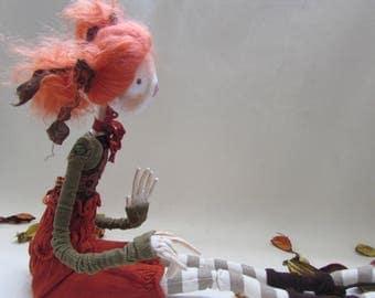 Art doll, cloth doll, fabric doll, textile art, handmade doll, Ooak doll, Doll maker, rag doll, cloth doll, handmade doll, poseable doll,