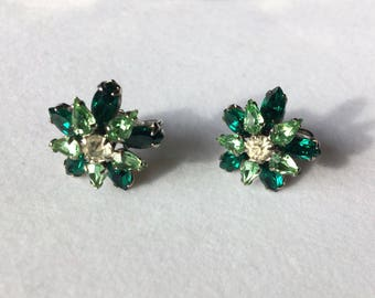 Green Sherman Screwback Earrings