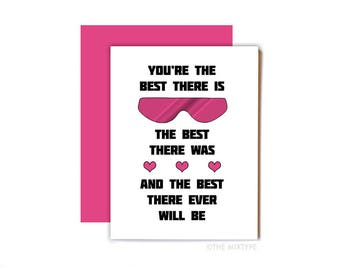 Bret the Hitman Hart Card, WWF, WWE, Wrestling, Card for Husband, Boyfriend, Valentine's Day Card, 80s, Heartbreak Kid - The Best There Is