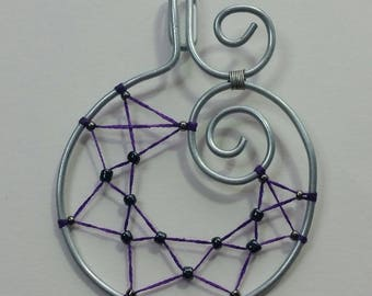 "Collection ""Steel"" - Spider Web pendant"