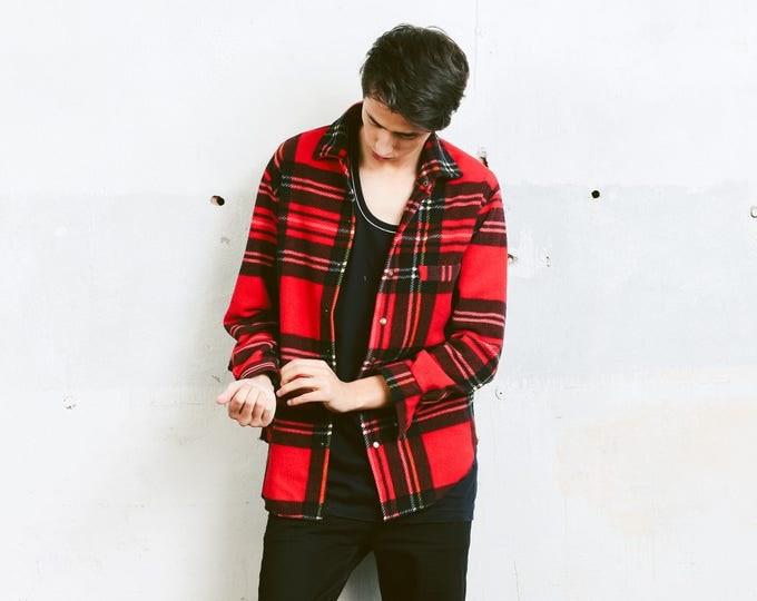 Buffalo Plaid Fleece 90s Shirt . Vintage Button Down 90s Mens Soft Shirt Lumberjack Everyday Clothing Hipster Boyfriend Gift . size Medium M
