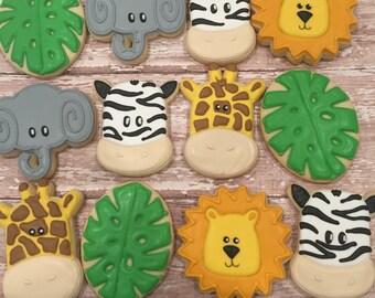 Safari Themed Cookies (1 Dozen)