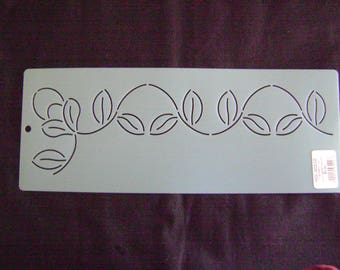 Sashiko Japanese Embroidery Stencil 2 in. Vine Border Motif Block/Quilting