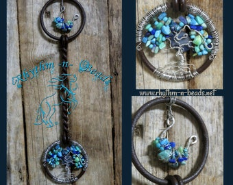 """Decorated Vintage Horse Bit, """"TOL SPIRIT PONY"""", Tree of Life, Vintage Horse Bit, western wall art, equestrian, horse lover, Tree of Life"""
