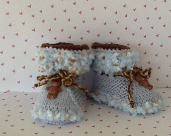 Teddy bear boots, booties for babies pretty shoes for baby babyshower gifts, babies kids fashion, photography newborn, newborn photo prop