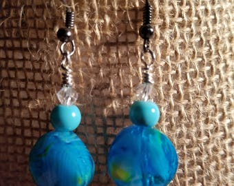 Blue and Green// Colorful// Handmade Jewelry