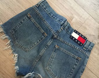 Vintage Tommy Hilfiger High-Waisted Shorts