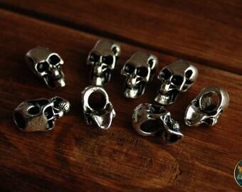 Metallic bead for dreads skull Halloween beads horror beads