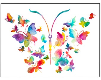 Panoply of butterflies - Fine Art Giclee Print watercolor painting - Butterfly gift - Butterfly watercolor