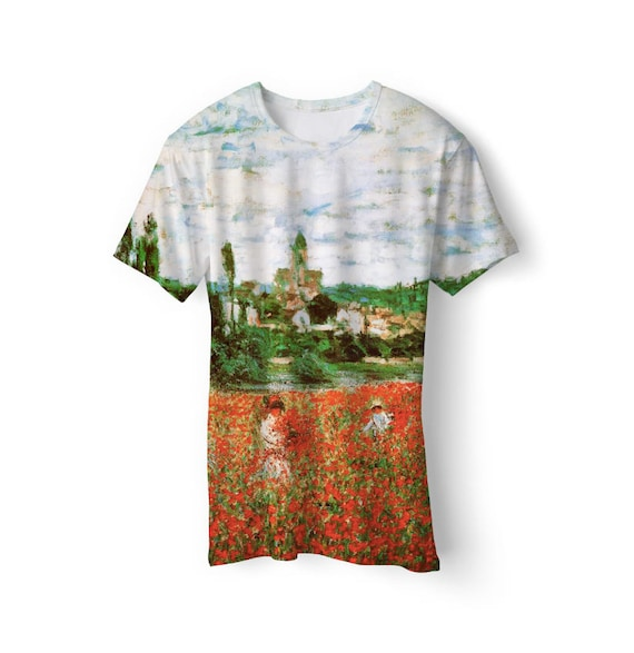 Unique unisex t-shirt with high quality full print of painting